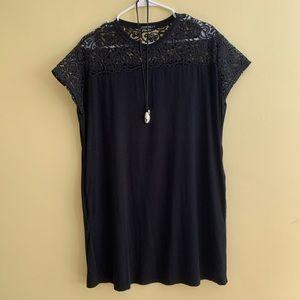 Ann Fontaine Jersey Black Summer Shift Jazz Dress